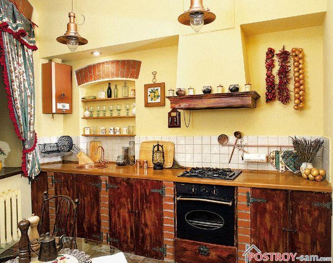 Кухни в деревенском стиле своими руками