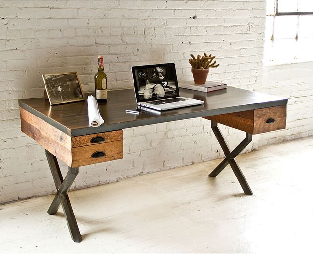 Деревянный стол в стиле лофт своими руками 75