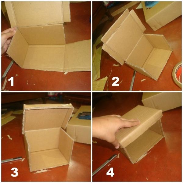 Как сделать большую коробку из картона своими руками
