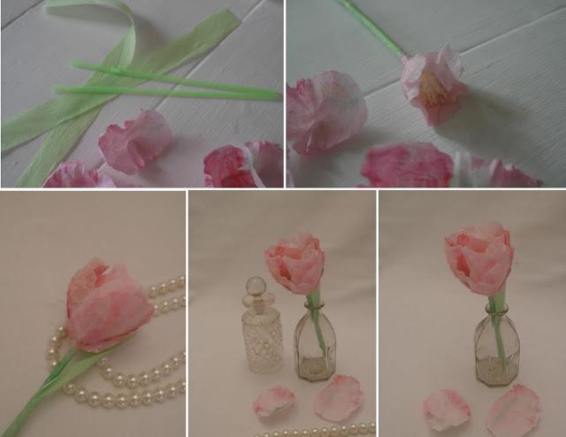 Тюльпаны из салфеток своими руками пошаговое фото 79