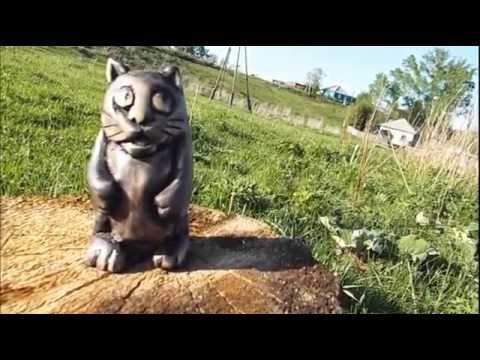 Резьба по дереву для начинающих. Котейка,скульптура.wood carving,cat sculpture