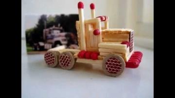 Поделки детям: Машинки из спичек своими руками
