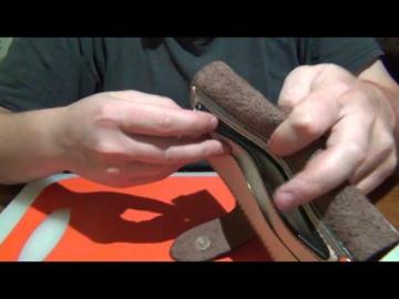 Самодельный женский кожаный кошелёк