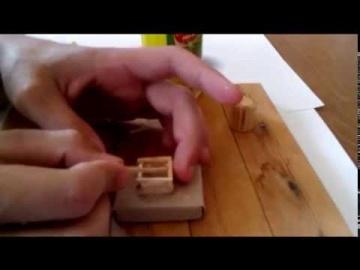 Как сделать колодец из спичек!