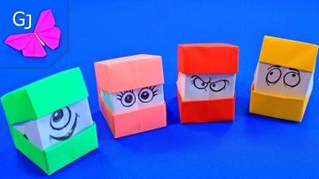 Оригами из бумаги СМЕШНЫЕ КУБИКИ | Игра КУБИК МЕНЯЕТ ЛИЦО