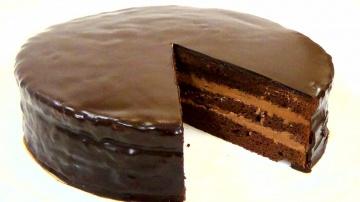 """Торт """"Прага"""" по ГОСТу. Шоколадный торт. Пошаговый рецепт."""