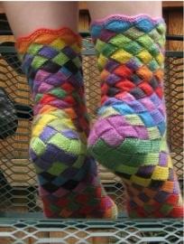 Как вязать носки в стиле энтерлак Мастер класс
