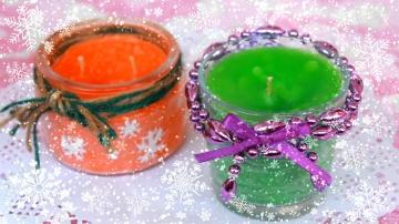 Новогодние ароматические свечи