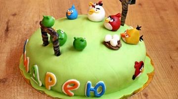 Торт на День рождения / How to make Birthday cake with marshmallow fondant ♡ English subtitles