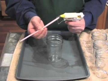 декоративные свечи ручной работы в стекле