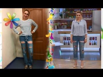 Как убрать дырки на джинсах? Техника пэчворк