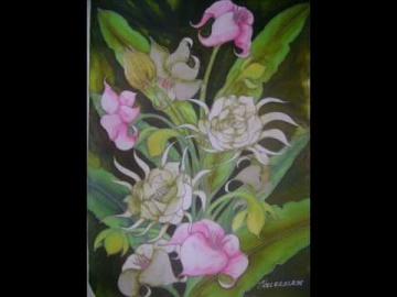 Handmade Silk Batik Painting - Sarawak Ethnic Design