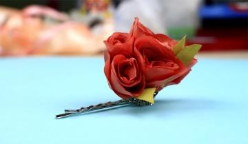 Заколка-цветок своими руками