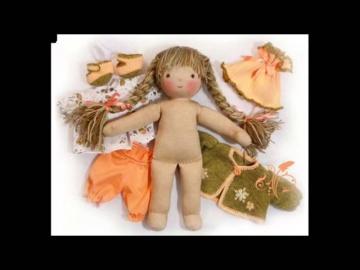 Текстильная кукла для любимой доченьки!