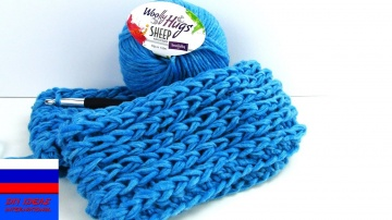Легкий шарф на весну двойной снуд урок вязания крючком