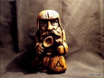 Домовёнок своими руками. резьба по дереву.DIY sculpture, wood carving