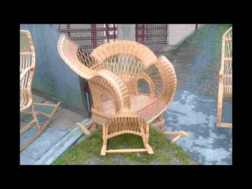 Плетеные из лозы кресла качалки