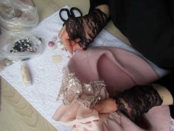 Мастер класс по вышивке тканями на беретах