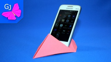 Оригами из бумаги ПОДСТАВКА ПОД СМАРТФОН #2